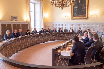 Délégation de la Cour de justice de l'Union européenne (CJUE) conduite par son président, M. Koen Lenaerts